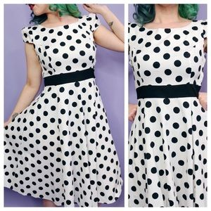 Retro Reproduction Polka Dot Dress
